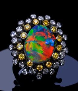 Black Opal Ring AG0005