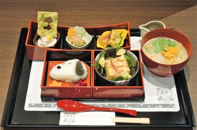 京都「スヌーピー茶屋」の湯葉御膳