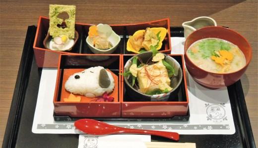 🐕スヌーピーのキャラクターカフェ「SNOOPY 茶屋」京都 湯葉御膳と秋のパフェ