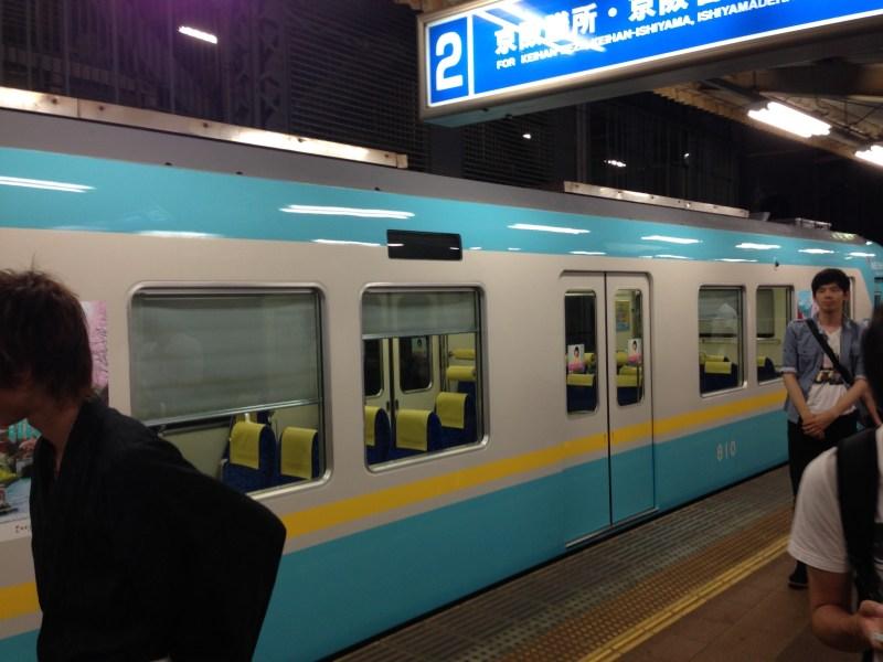 「びわ湖大花火大会」電車