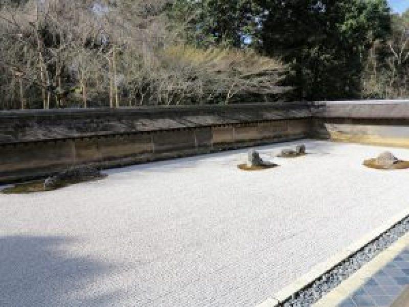 龍安寺石庭斜め