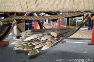 山鉾 辻回し用の竹