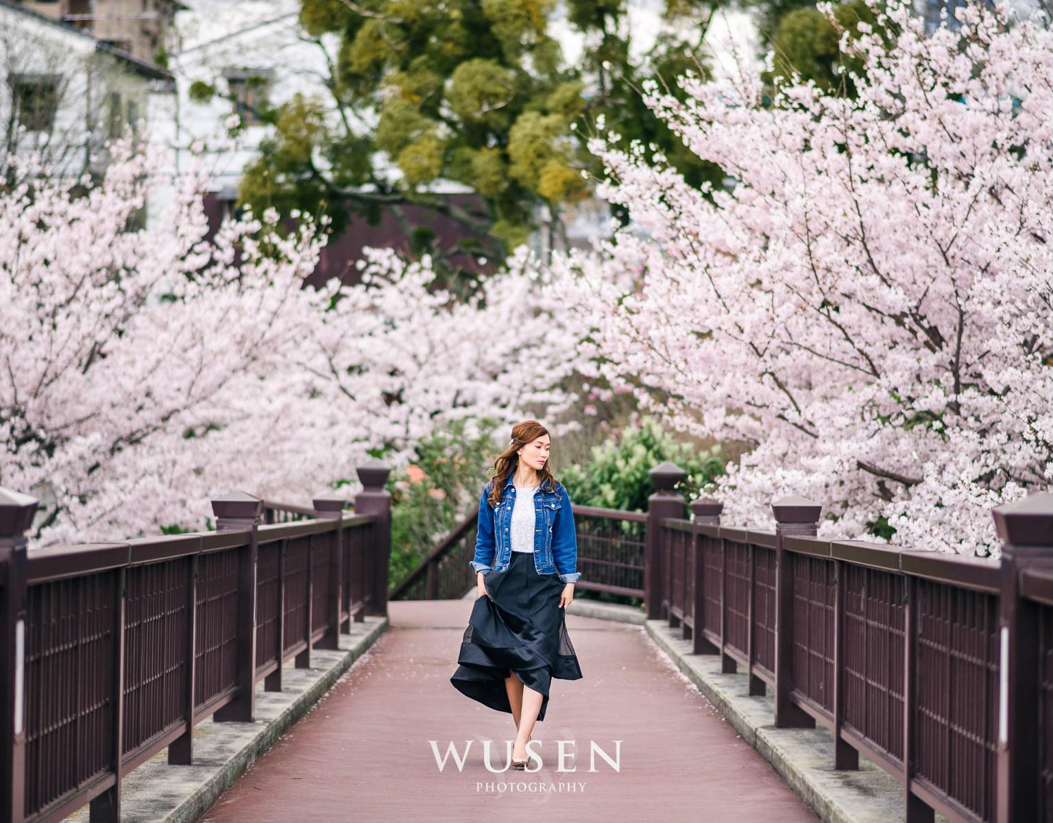京都 春櫻季節 和服拍攝作品 – 京都和服寫真 Wusen Photography
