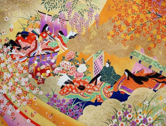 京都・平安貴族柄の和紙