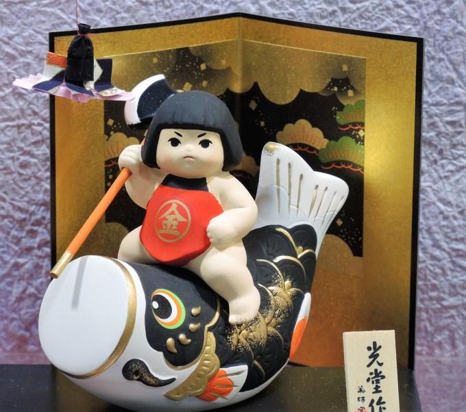 五月人形・金太郎と鯉のぼり