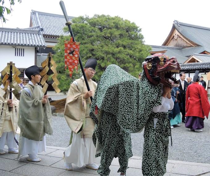 京都・熊野神社・神幸祭・獅子舞・聖護院