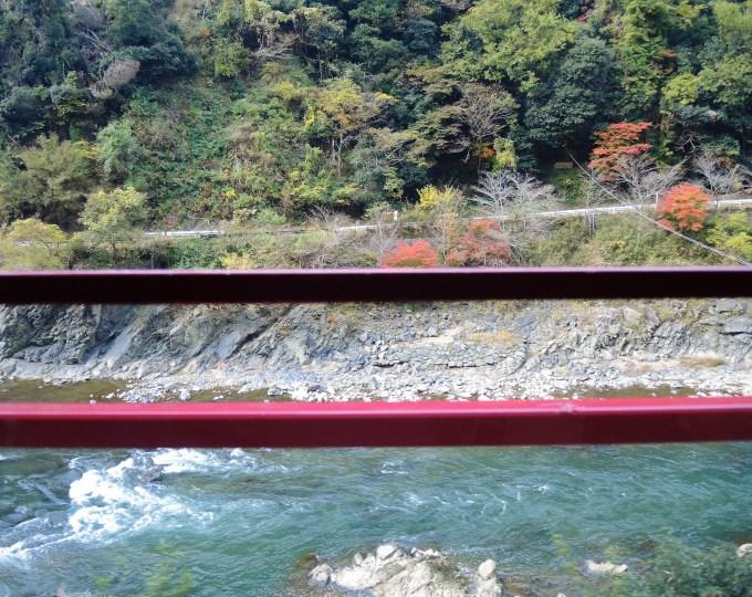京都・トロッコ列車・保津川