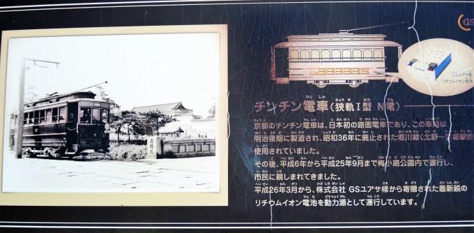 京都・梅小路公園・チンチン電車