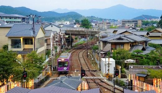 京都・嵐電「嵐山駅」の屋上〈とっておきの、眺望スポット〉キモノフォレスト・ライトアップ