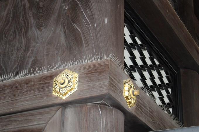 20御影堂の柱のトゲトゲ