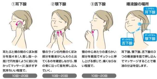 「唾液腺マッサージ」の画像検索結果