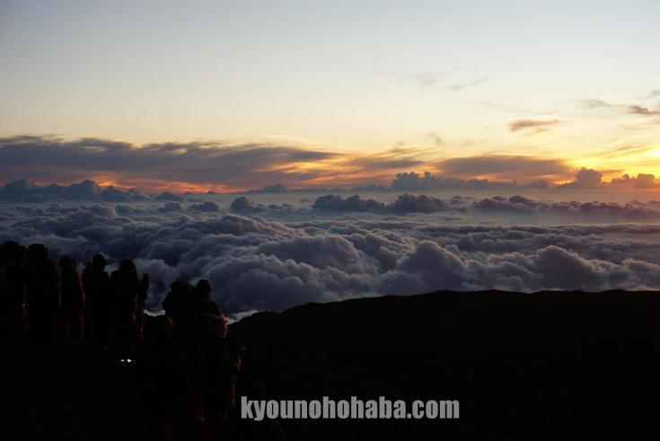 ハワイ島 マウナケア 山頂 夕日