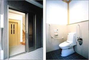 エレベーター・車いす対応トイレ