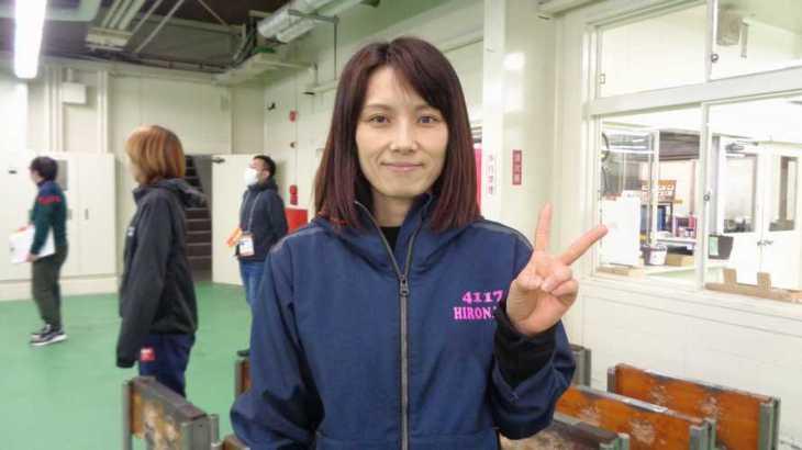 廣中智紗衣選手のTOP画像です。