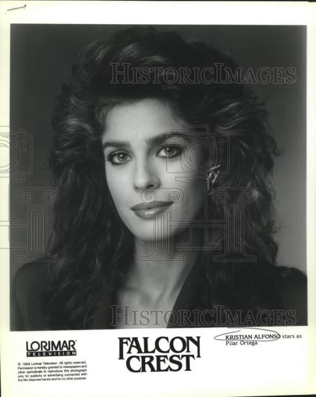 "details about 1989 press photo actress kristian alfonso as pilar ortega in ""falcon crest"""