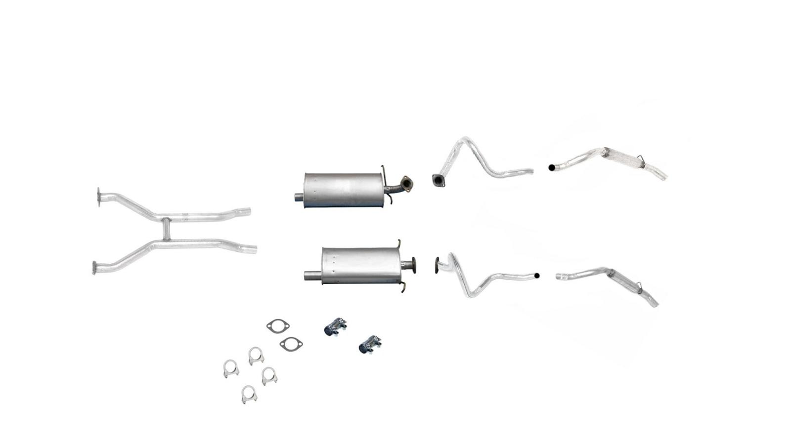 Front H Pipe Dual Mufflers and Dual Tail Pipes For 1998