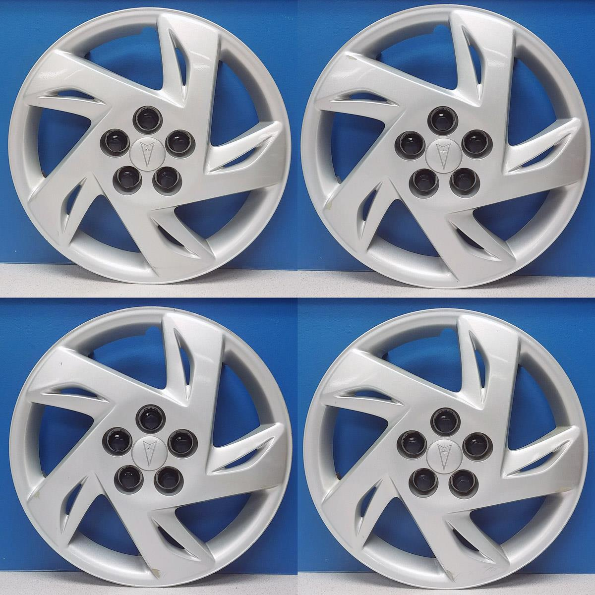 hight resolution of details about 2000 2002 pontiac sunfire 5127b 15 hubcaps wheel covers gm 09593211 sale set