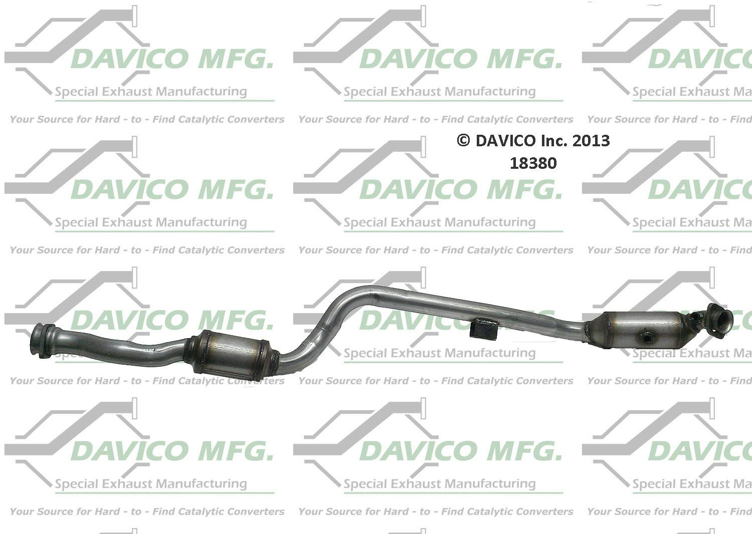 CLS550 E550 Drivers Side Engine Pipe Dual Catalytic