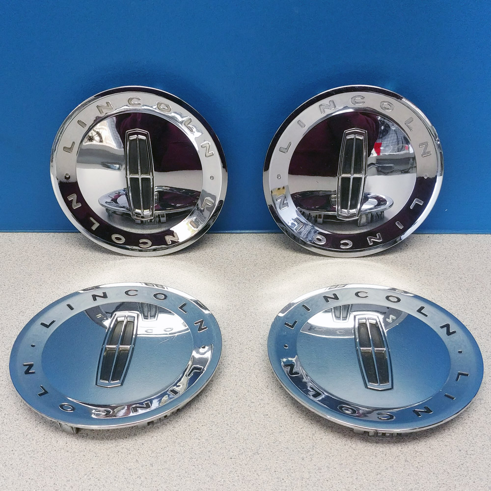 medium resolution of details about 2003 2005 lincoln town car 3502 chrome 17x7 wheel rim center caps used set 4