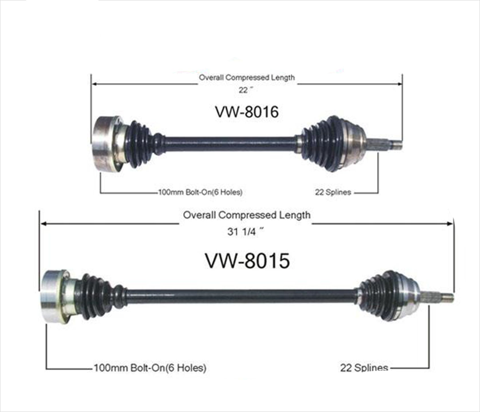 2 Front Left & Right CV Drive Axle Shafts for 93-98