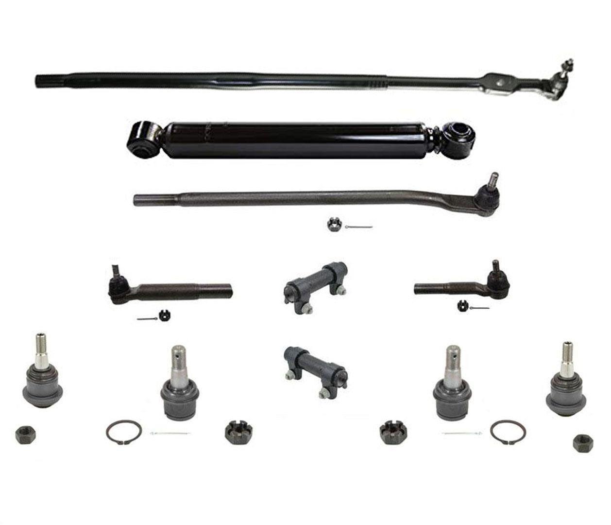 Drag Links Tie Rods Ball Joints For Dodge Ram 4 Wheel