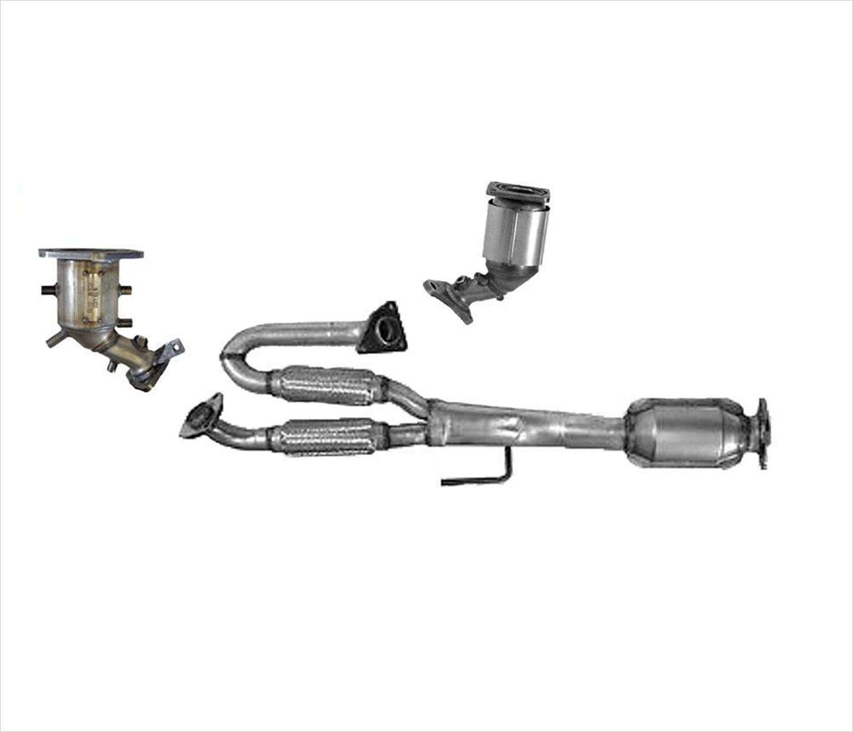 Engine Y Flex Pipe With (3) Catalytic Converters for 09-14