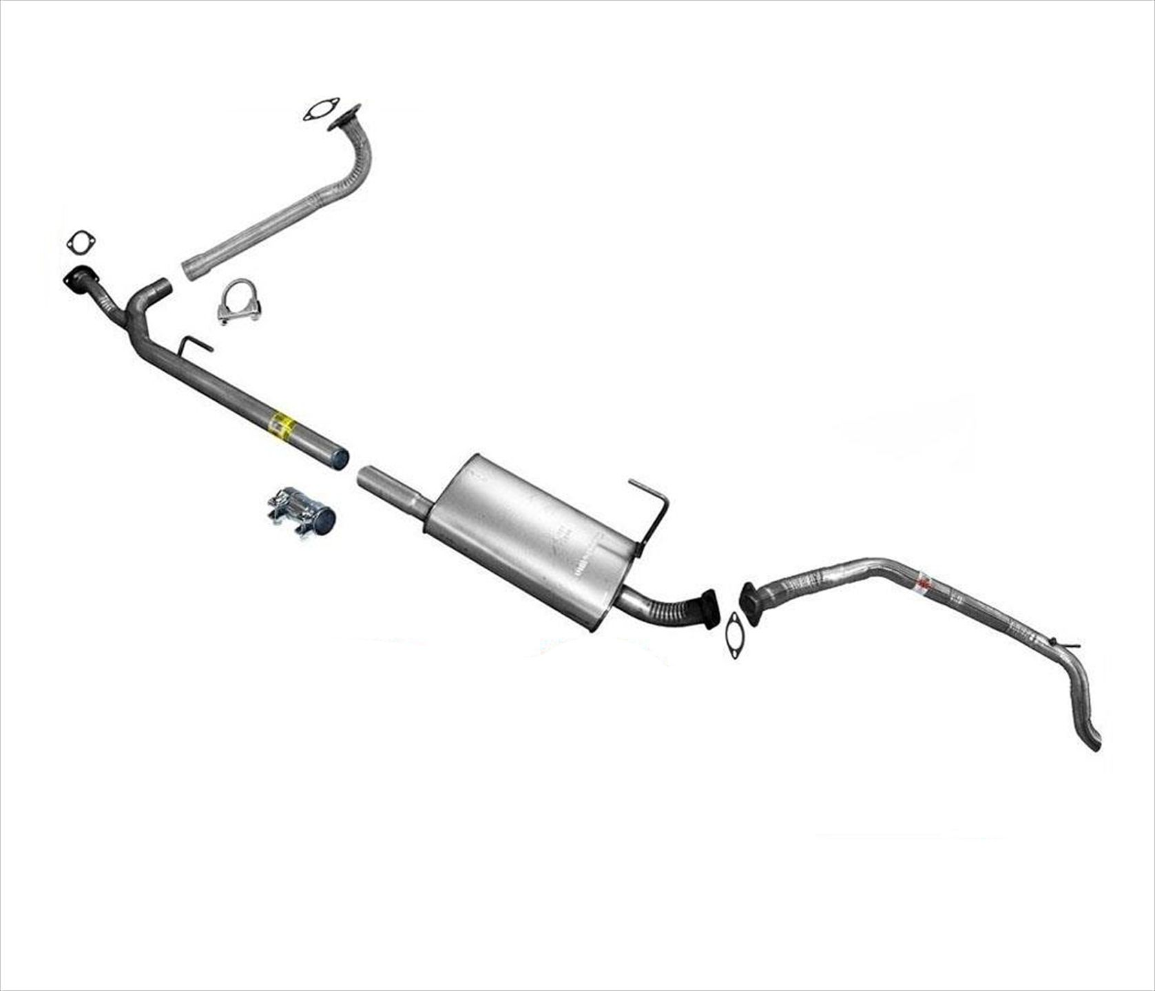 Exhaust System Muffler and Pipes Fits 2004-2006 Nissan