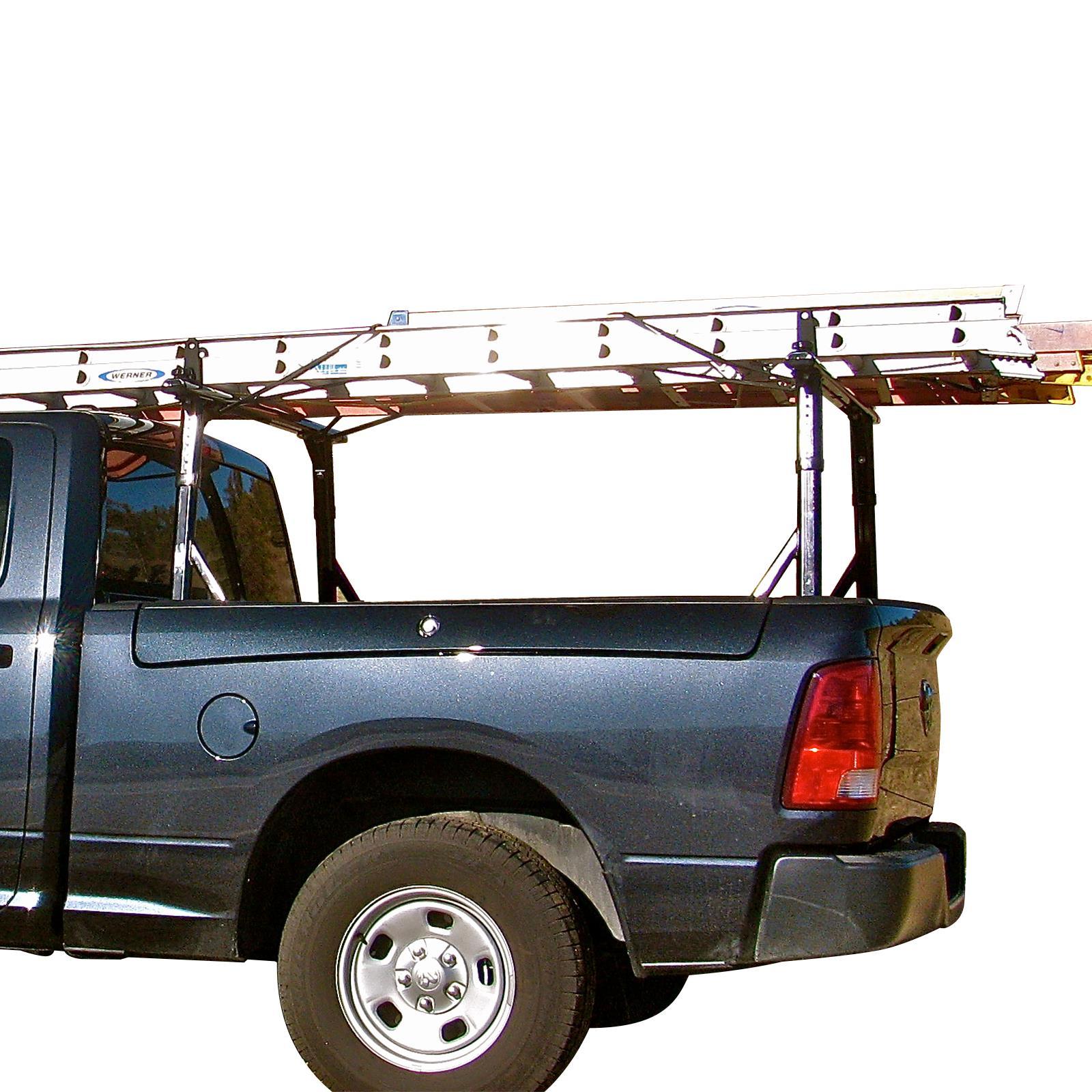details about vantech p3000 aluminum ladder rack system fits ram rambox pickup truck black