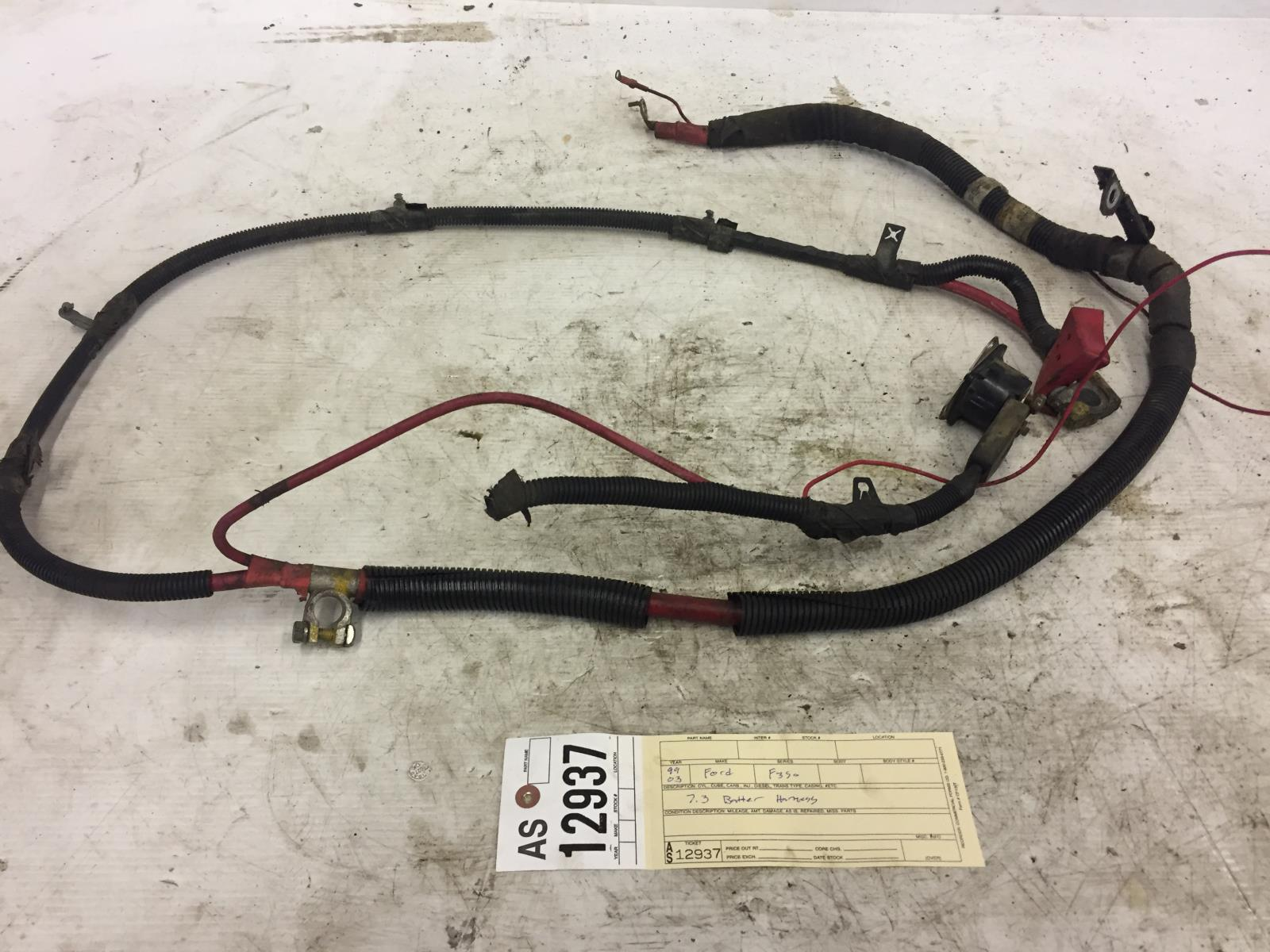 hight resolution of 1999 2003 ford f350 f250 7 3l cable de la bater a powerstroke arn