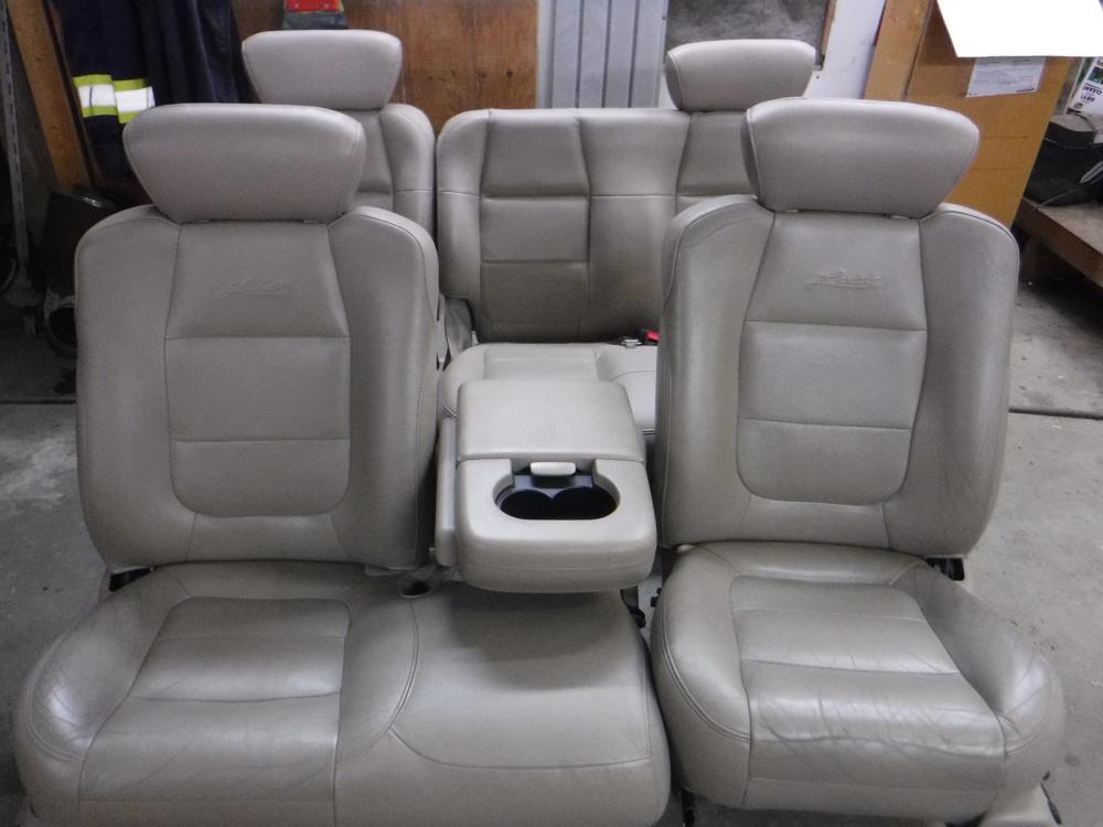 medium resolution of 1998 2003 ford f150 lariat tan leather seats crew cab power heat free ship oem