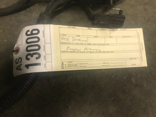 small resolution of 2003 dodge ram 2500 3500 5 9l cummins diesel engine wiring harness this is the harness that goes from the ecu and then back to the body part number