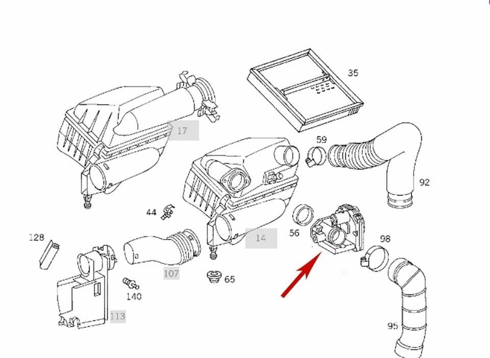 Air Recirculation Actuator 1998-00 Mercedes C230 SLK230