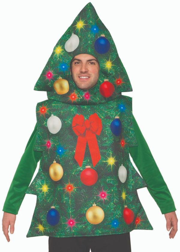 Christmas Tree Costume Adult Decorated Tunic