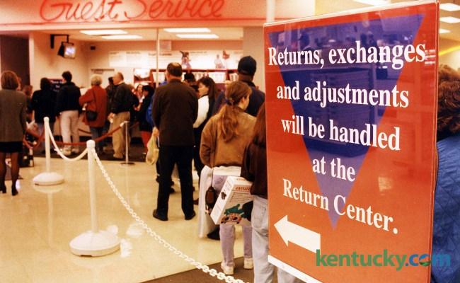 Christmas Gift Returns At Target 1994 Kentucky Photo