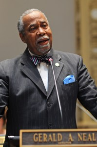 Senate Democratic Caucus Chair Gerald Neal, D-Louisville, speaks on a constitutional amendment up for consideration on March 21 in the Kentucky State Senate.