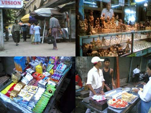 condoms seller at Yangon