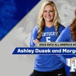 UK VB: Bergren & Dusek Earn AVCA All-America Honorable Mention