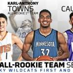 Former Wildcats Towns, Booker, Cauley-Stein Make NBA All-Rookie Team