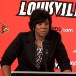 Coach Michelle Clark-Heard on Western Kentucky WBB 61-68 loss to Louisville