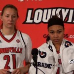 Louisville WBB Kylee Shook & Mariya Moore Post Game vs Evansville