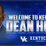 Dean Hood Named Kentucky Football Special Teams Coordinator, Outside Linebackers Coach