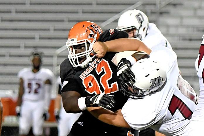 Georgetown College football's Cameron Oshodi NAIA/AFCA All ...