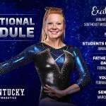 Kentucky Gymnastics Announces 2018 Promotional Schedule