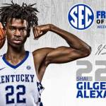 UK MBB's Gilgeous-Alexander Tabbed SEC Freshman of the Week
