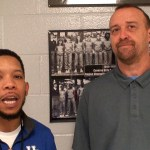 Coach Mike Hays of KY Vision with Lee G at KySportsTV Hoopfest 2018