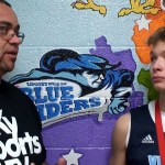 Abe Brock of KY Vision Hoops with Trevent Hayes at KySportsTV Hoopfest