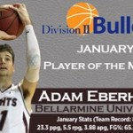 DII Bulletin names Bellarmine MBB's Eberhard Player of the Month