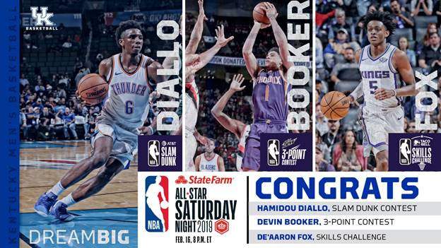 University of Kentucky basketball players in nba all star weekend