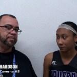 Caverna HS Basketball Kaliana Richardson on District Championship WIN