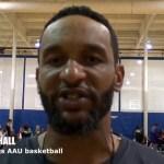 Kentucky Kings AAU Basketball Coach Theo Hall at Owensboro Hoops Classic